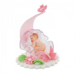 Bobas z motylkami różowy -...