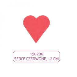 Serca czerwone waflowe - 1...