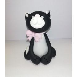 Kotek czarny z kokardką - 1...